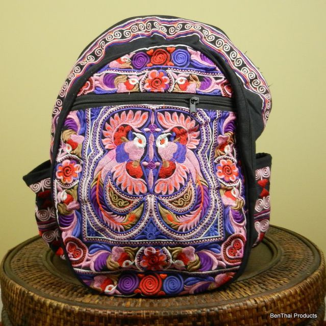 Buy Flower Backpack Book Bag Thailand Hmong Colors