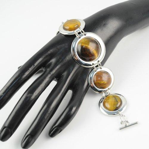 Buy Jewelry set with Tiger's eye handmade bracelet