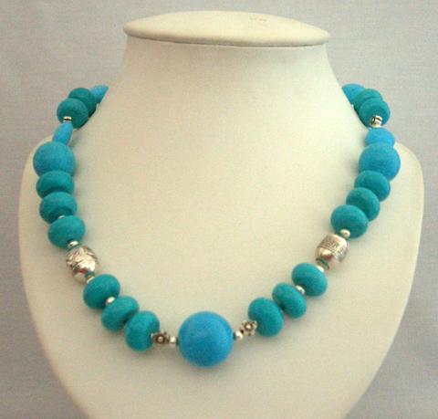 Buy Handmade turquoise necklet