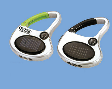 Buy 3 LED solar keychain with carabiner & compass