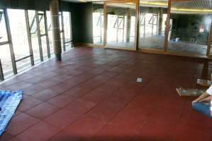 Buy Rubber tiles 500x500x25 mm