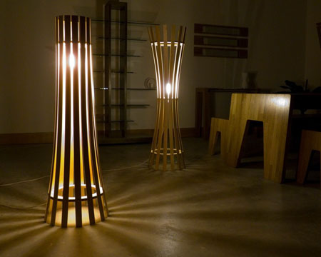 wooden floor lamps make your rooms more beautiful