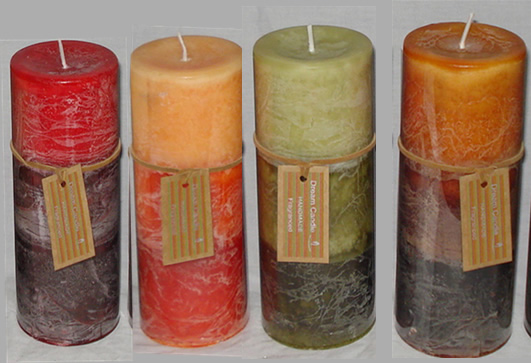 Buy Harvest Tri-Color Candle