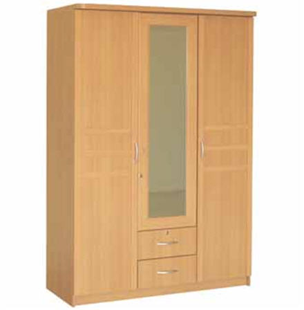 Buy Linda 135cm. 3-door Wardrobe