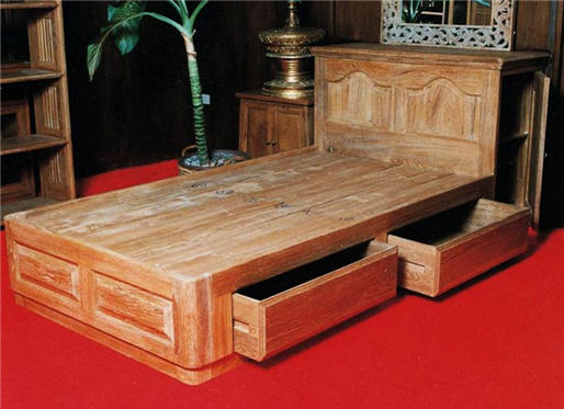 Buy Bed single size with drawer fw27
