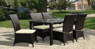 Buy Synthetic rattan dining set