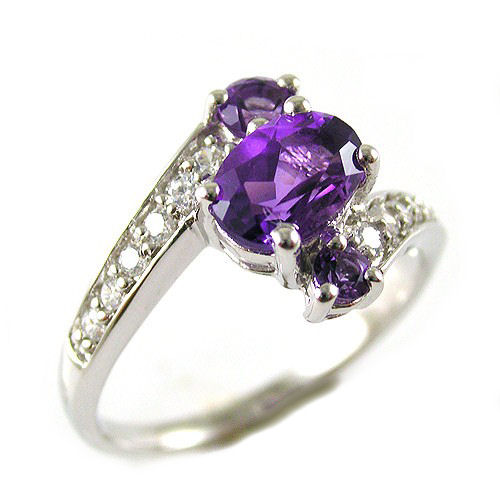 Buy Silver ring with amethyst