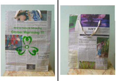 Newspaper Bag with  Logo Screen