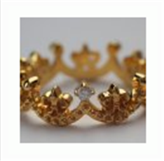 Kate Ring silver crown yellow gold