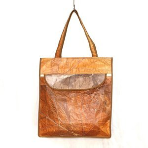 Buy VERTICAL TEAK LEAF SHOULDER SHOPPING BAG