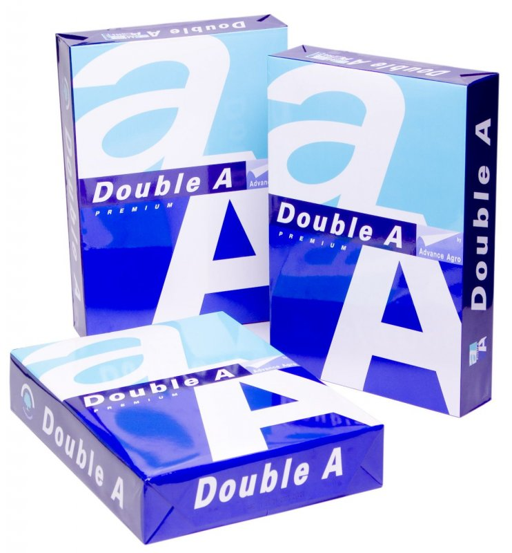 Buy Paper Double A brand A4 copy papers 70, 75 And 80 gsm