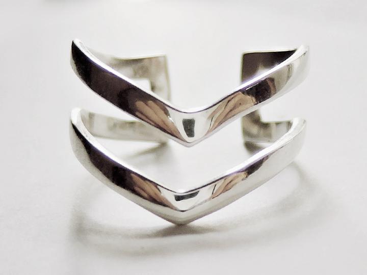 Buy Double Chevron Ring