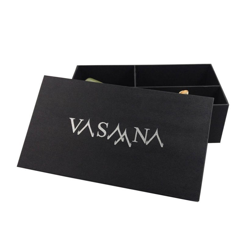 Buy High-end Logo Printed Black Packaging Box For Spa & Gift