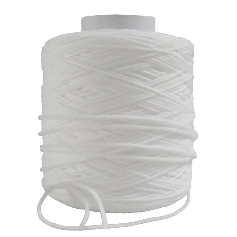 Buy Factory wholesale ribbon 3mm white color elastic earloop for normal mask material