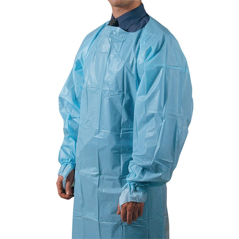 Buy Disposable PP Non-woven and PE Breathable Membrane Non-sterile medical protective gowns ppe suits