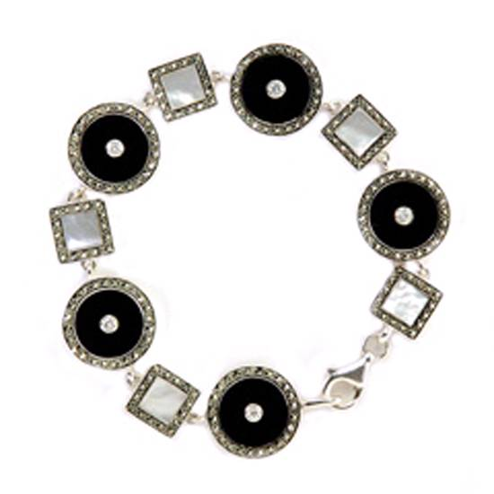 Buy Silver Bracelet With Precious Stone
