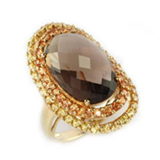 Buy Gold Ring With Semi-Precious Stone