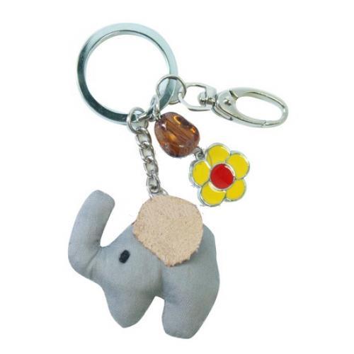 Buy Poly suede elephant keychain