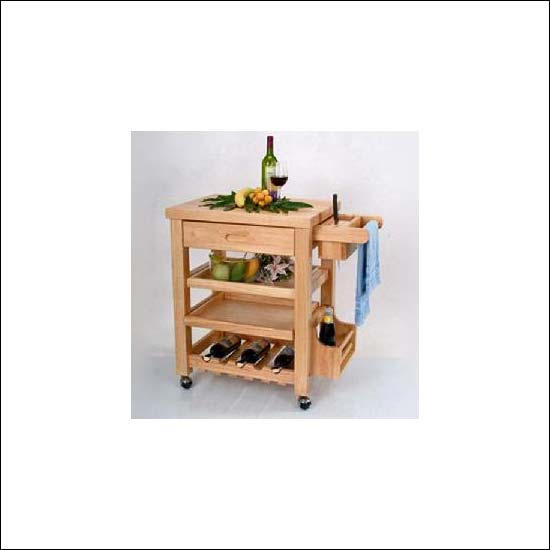 Buy BV trolley with solid wood top
