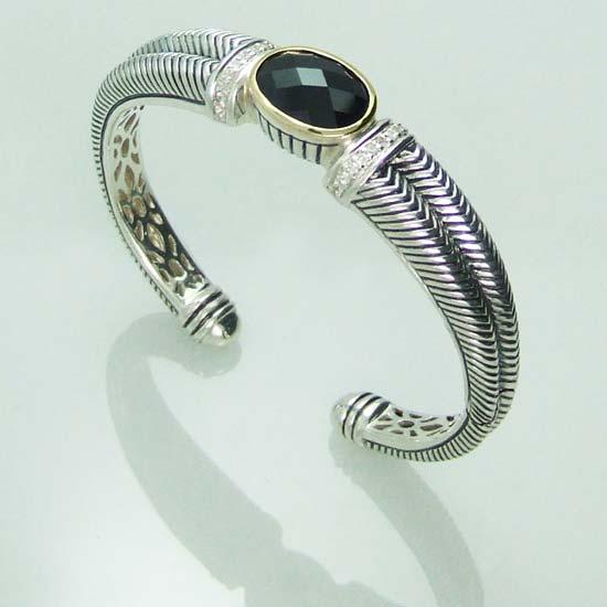 Buy Ladies Silver Hinged Bangle