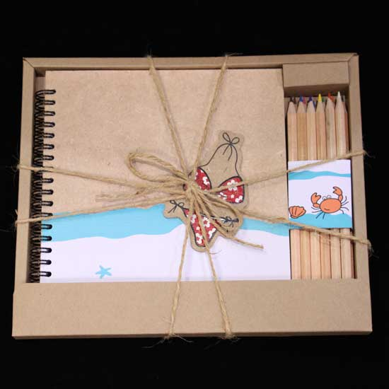 Buy Notebook with Color Crayon Gift Set