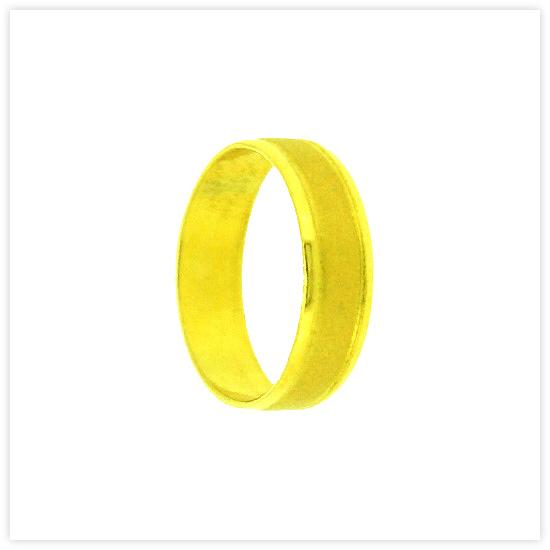 Buy R-0001-1BAHT Real 23k Baht Gold Sandblast Wide Flat Wedding Band Ring with Polished Edges