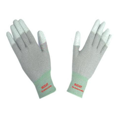 Buy PU coated gloves are static finger