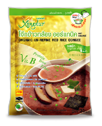 Buy Red rice congee with vegetable