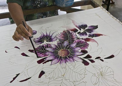 Buy Handpainted Batik Paper