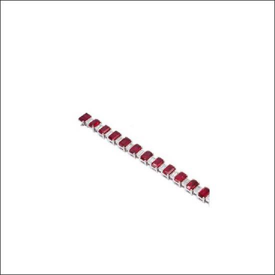 Buy Ruby And Diamond Bracelet