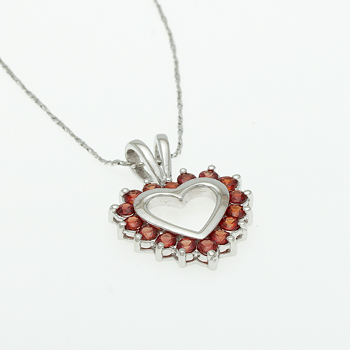 Buy Silver pendant with Orange-Sapphire P0015