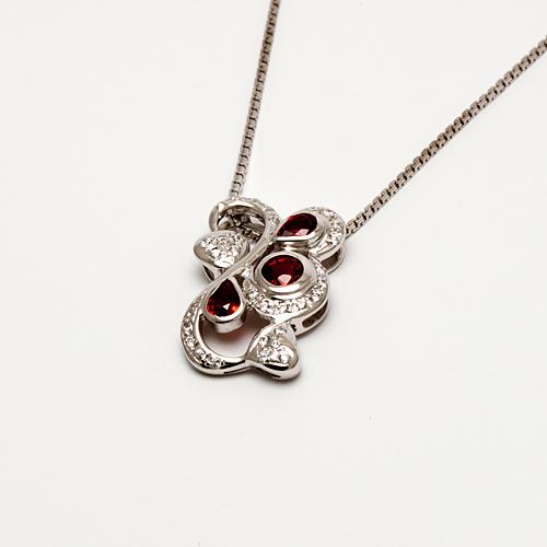 Buy Silver pendant with Orange-Sapphire P0014