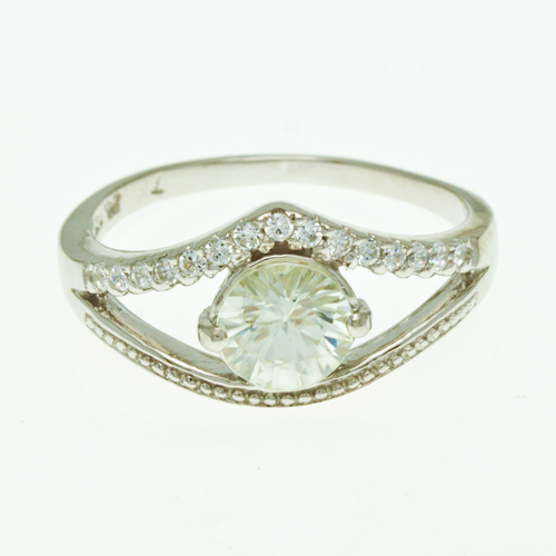 Buy Silver Ring with Zircon R0249