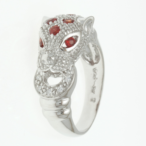 Buy Silver ring with orange sapphire R0245