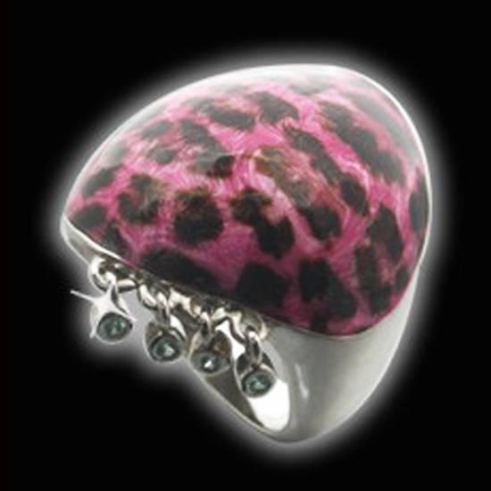 Buy Leopard Enamel Ring