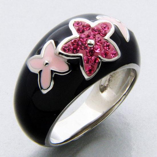 Buy Flowers Enamel Ring