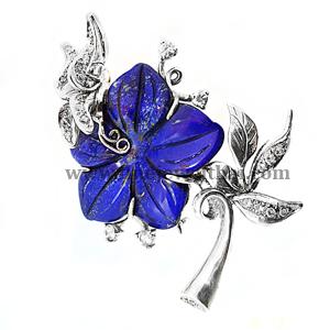 Buy Silver flower bangle Z1003lp0100