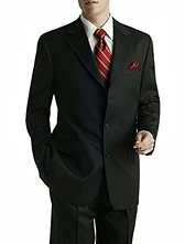Single Breasted Three Button Custom-Fitted Suit
