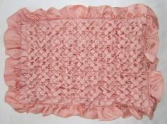 Rose Gold Silk Cushion Cover