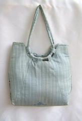 Cambridge Blue and White Silk Handbags