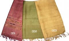 Thai silk scarves with bamboo patterns