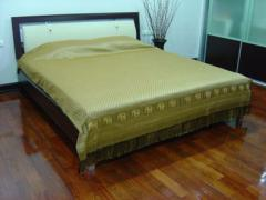 Queen Size Bedspread Thai Elephant Gold