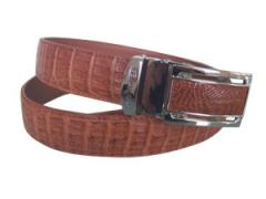 Tan Color Crocodile Skin Belt