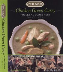 Ready to eat chicken green curry