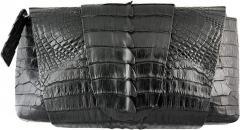 Genuine Alligator Leather Clutch Bag FCM159 Black