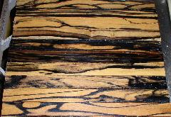 Black & White Ebony Natural Wood Veneer