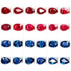 Calibrated Ruby And Sapphire Stones