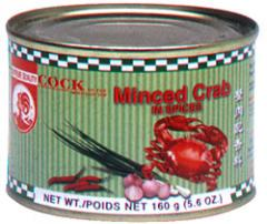 Canned minced crab in spices