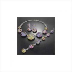 Colour Semi-Precious Stone Jewellery Set
