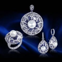 Pearl And Sapphire Jewellery